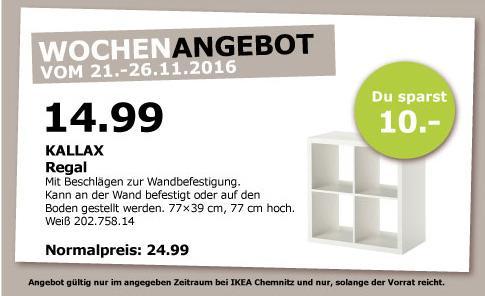 KALLAX Regal Weiß 77x39x77 cm - jetzt 40% billiger