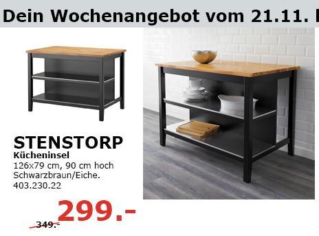 Stenstorp Kucheninsel Schwarzbraun Eiche Fur 299 00 14