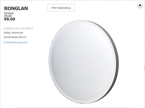 RONGLAN Spiegel 80 cm - jetzt 25% billiger