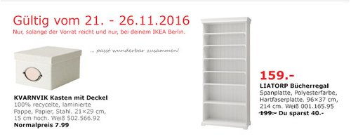 LIATORP Bücherregal Weiß 96x37cm 214 cm - jetzt 20% billiger