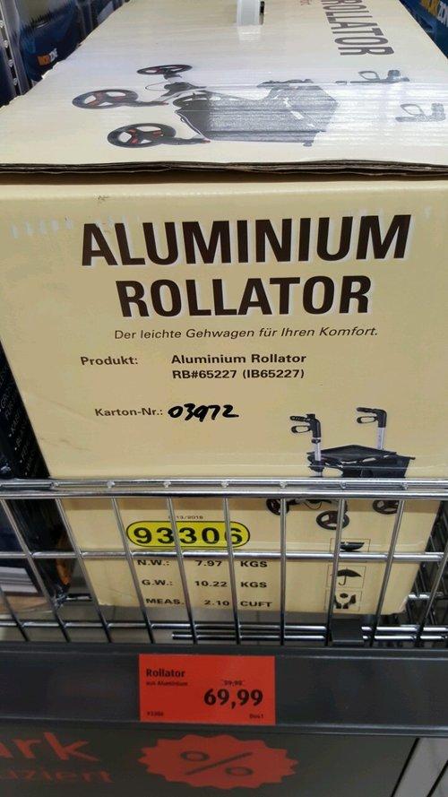Rollator Aluminium - jetzt 30% billiger