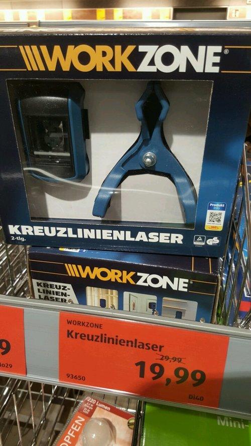 Workzone Kreuzlinienlaser - jetzt 33% billiger