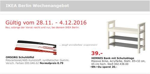 HEMNES Bank mit Schuhablage, weiß, 85x32 cm, 65 cm hoch - jetzt 34% billiger