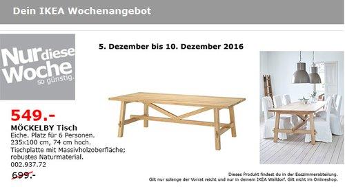 MÖCKELBY Tisch Eiche 235x100 cm, 74 cm hoch - jetzt 21% billiger