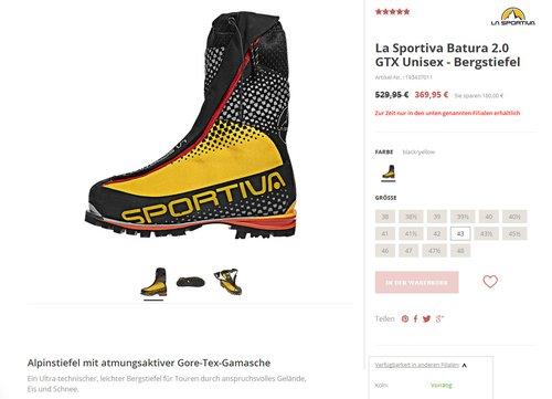 La Sportiva Batura 2.0 GTX  Bergstiefel (43) - jetzt 30% billiger