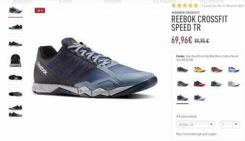 Reebok CrossFit Speed TR Trainingsschuh Herren - jetzt 30% billiger