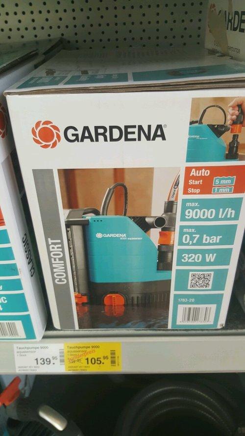 Gardena Tauchpumpe 9000 - jetzt 24% billiger