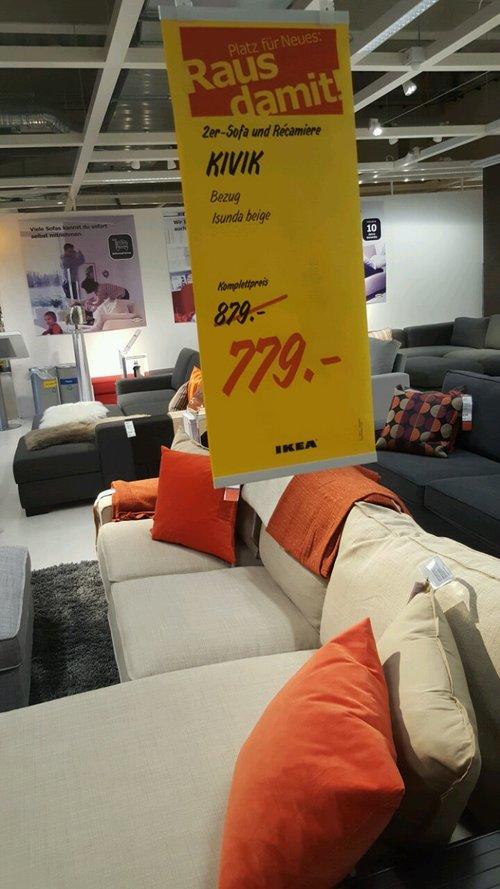 KIVIK 2er-Sofa und Recamiere  - jetzt 11% billiger