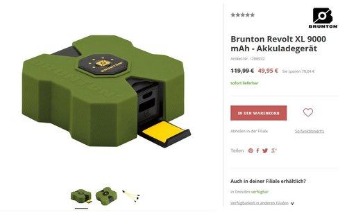 Brunton Revolt XL 9000 mAh - Akkuladegerät - jetzt 58% billiger