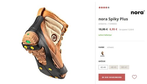nora Spiky Plus - jetzt 63% billiger