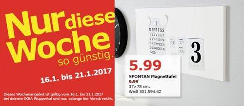 SPONTAN Magnettafel 37x78 cm - jetzt 40% billiger