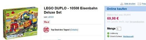LEGO DUPLO 10508 - Eisenbahn Super Set - jetzt 30% billiger