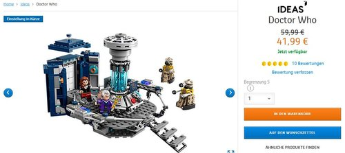 LEGO Ideas Doctor Who 21304 - jetzt 30% billiger