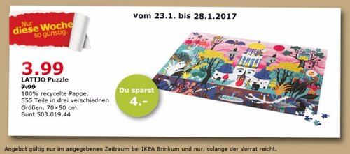 LATTJO Puzzle 555 Teile 50x70cm - jetzt 50% billiger