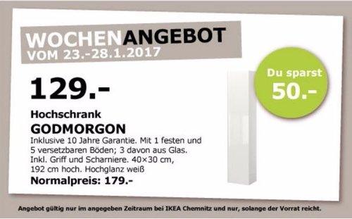 GODMORGON Hochschrank, Hochglanz weiß, 40x30x192cm hoch - jetzt 28% billiger