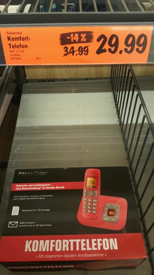 Komfort-Telefon mit digitalem Anrufbeantworter - jetzt 14% billiger