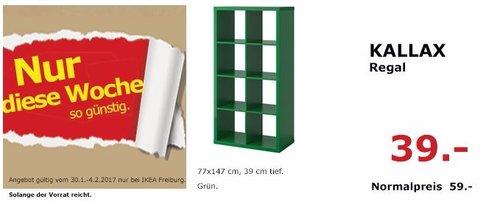 KALLAX Regal grün, 77x147cm, 39 cm tief - jetzt 34% billiger