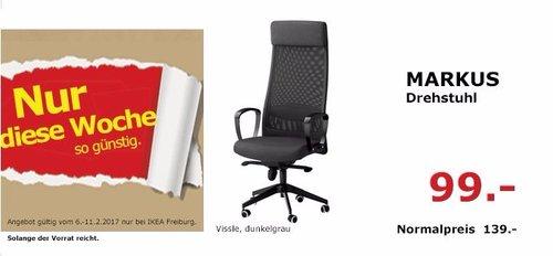 IKEA MARKUS Drehstuhl vissle, dunkelgrau - jetzt 29% billiger