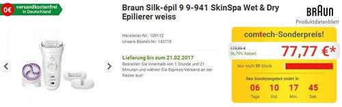 Braun Silk-épil 9 Epilierer 9-941 - jetzt 13% billiger
