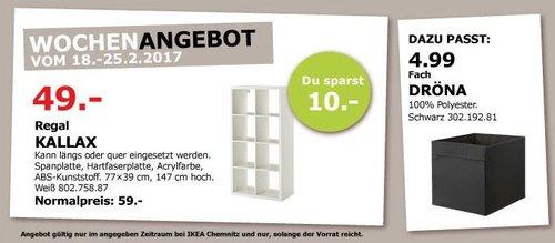 IKEA KALLAX Regal 77x39 cm, 147 cm hoch, weiß - jetzt 17% billiger