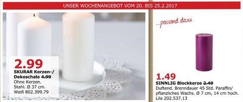 IKEA SKURAR Kerzen- /Dekoschale, 37 cm, weiß, ohne Kerzen - jetzt 40% billiger