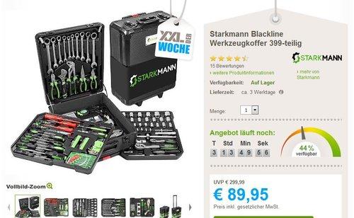 Starkmann Blackline Werkzeugkoffer 399-teilig - jetzt 70% billiger