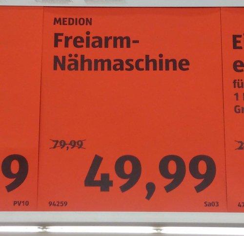 MEDION Freiarm-Nähmaschine MD 17329 - jetzt 38% billiger