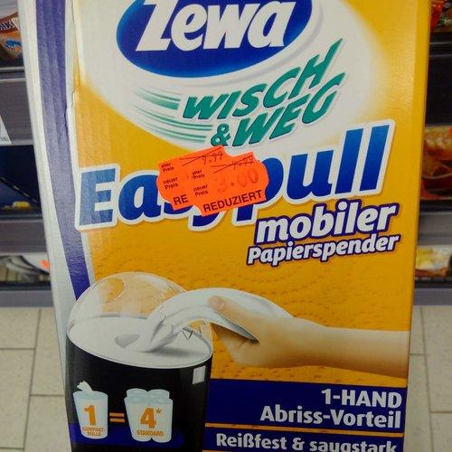 Zewa Wisch und Weg Easypull Küchenrollen Spender, mobiler Papierspender mit Ein-Hand-Abreiß-Technik - jetzt 70% billiger