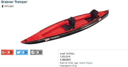 Grabner Tramper Schlauchboot - jetzt 15% billiger