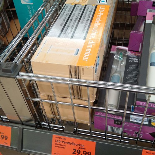 Led-Pendelleuchte, dimmbar - jetzt 50% billiger