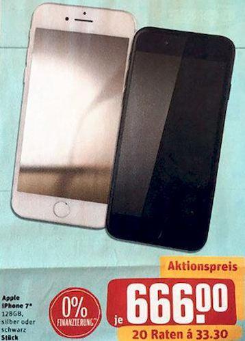 Apple iPhone 7, 128 GB, silber oder schwarz - jetzt 10% billiger