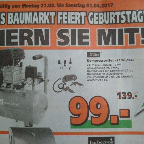 Güde 210/8/24Kompressor - jetzt 29% billiger