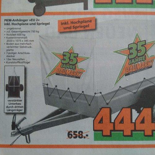 TPV PKW-Anhänger EU2 Stahlblech 750 kg inkl. Hochplane und Spriegel - jetzt 33% billiger