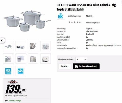 BK COOKWARE B5530.014 Blue Label     - jetzt 30% billiger