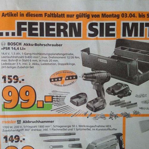 Bosch PSR 14,4 LI mit 2 Akkus, 241-teiliges Zubehör-Set - jetzt 38% billiger