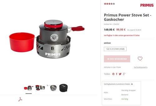Primus Power Stove Set - jetzt 33% billiger