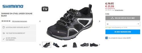 Shimano SH-CT40L Unisex Schuhe black, Größe 38 - jetzt 67% billiger