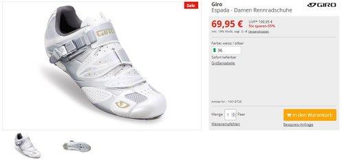 Giro Espada - Damen Rennradschuhe - jetzt 65% billiger