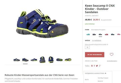 Keen Seacamp II CNX Kinder - jetzt 50% billiger