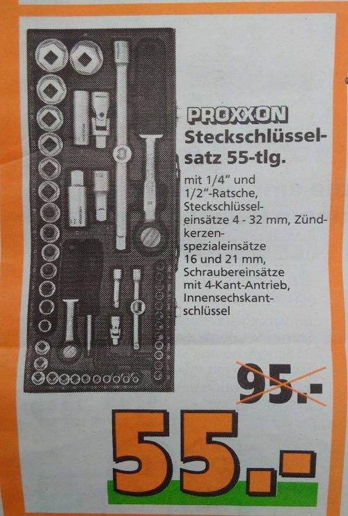 Proxxon Komplett-Steckschlüsselsatz 1/4 Zoll + 1/2 Zoll, 56-teilig - jetzt 42% billiger