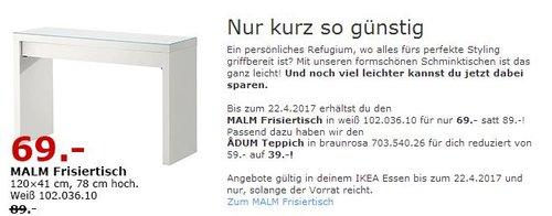 IKEA MALM Frisiertisch - jetzt 22% billiger
