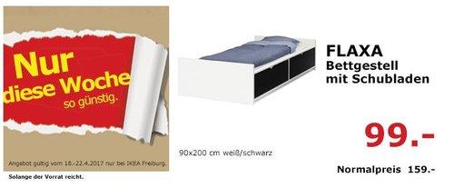 IKEA FLAXA Bettgestell mit Schubladen - jetzt 38% billiger