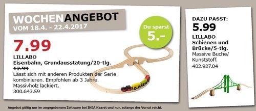 IKEA LILLABO Eisenbahn, Grundausst. 20-tlg., bunt - jetzt 38% billiger