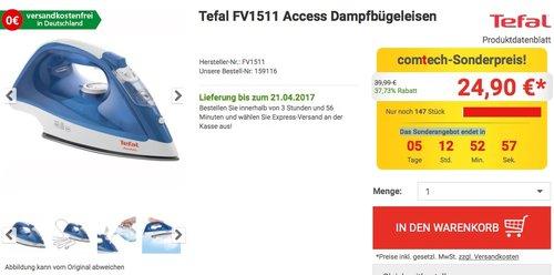Tefal FV1511 Access Dampfbügeleisen - jetzt 38% billiger