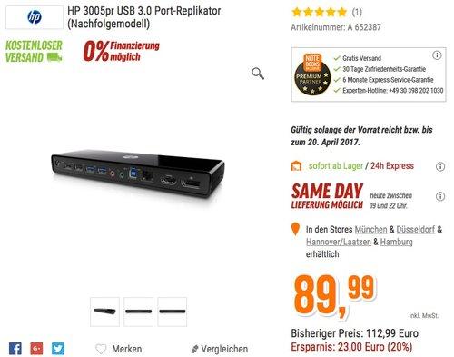 HP 3005pr USB 3.0 Port-Replikator - jetzt 20% billiger