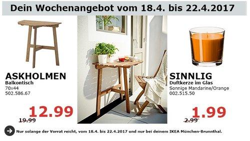 IKEA ASKHOLMEN Balkontisch, 70x44 cm. - jetzt 35% billiger