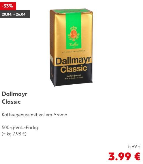 Dallmayr Classic, 500g - jetzt 33% billiger
