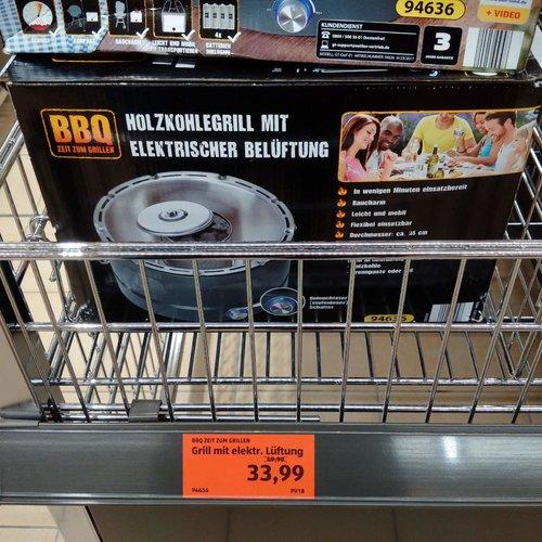 Grill mit elektrischer Belüftung - jetzt 32% billiger