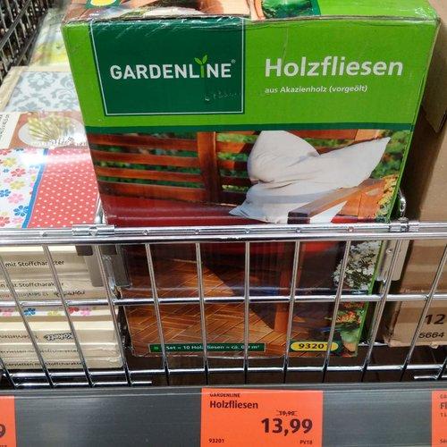 10er Pack Holzfliesen aus Akazienholz - jetzt 30% billiger