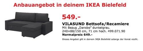 IKEA VILASUND Bettsofa/Recamiere - jetzt 15% billiger